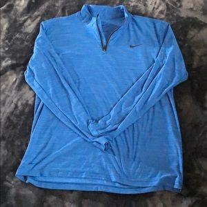 Nike 1/4 Zip Royal Blue men's Large